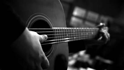 Guitar 4k Wallpapers Resolution Backgrounds Monochrome Instrument