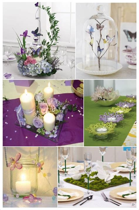 decoration de table papillon mariage theme papillons idees