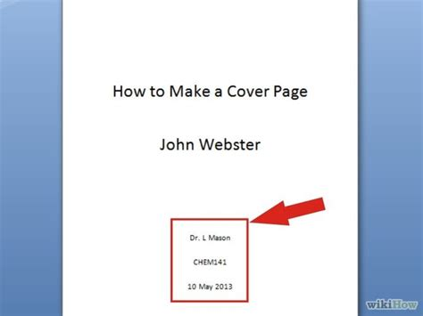 How To Make Cover by 7 Ways To Make A Cover Page Wikihow