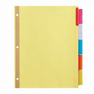 office depot brand insertable dividers with big tabs buff With office depot divider templates