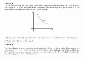 Solved  Problem 8 The Pv Diagram Below Describes A Heat En
