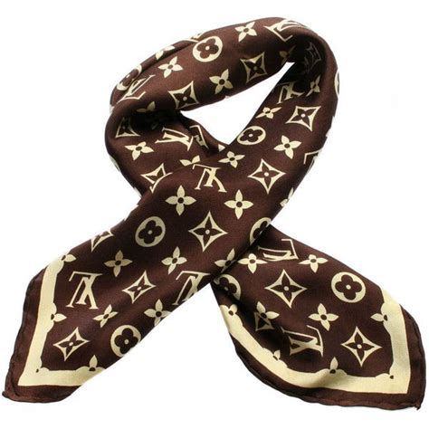 vintage louis vuitton silk logo scarf   polyvore featuring accessories scarves silk