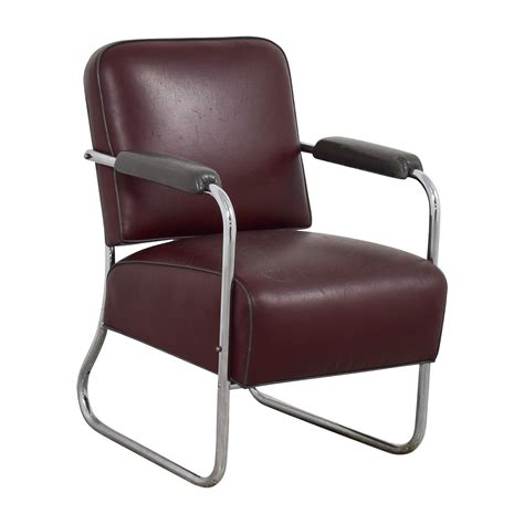 vintage art deco leather chair chairs