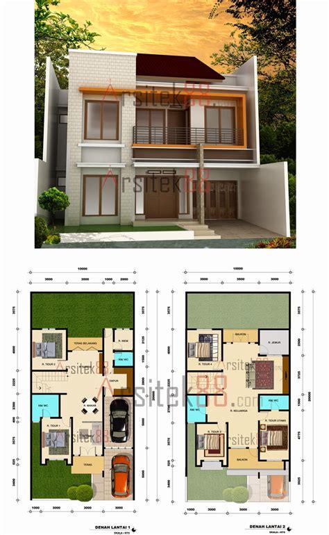 denah rumah minimalis  lantai ukuran