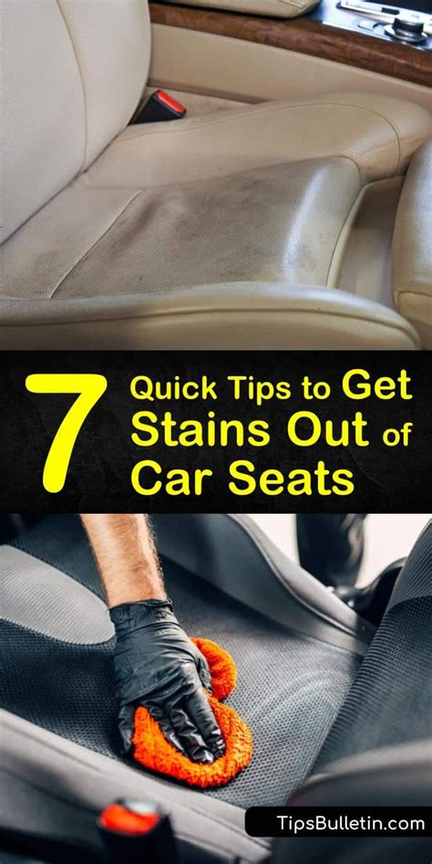 7 Quick Tips to Get Stains Out of Car Seats   Cleaning car ...