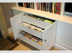 Custom dvd Drawers for Bookcase Unit The BookCase Co