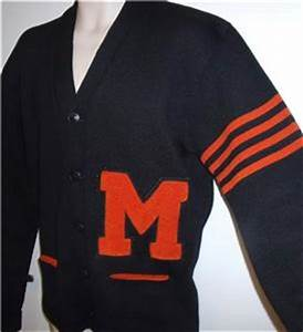 vintage 1940s varsity letterman college wool letter With vintage college letter sweater