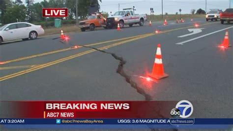 road  highway  sustains major damage  quake