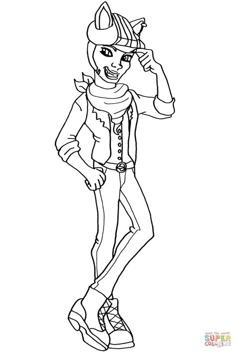 Monster High Clawd Wolf Coloring Page Free Printable