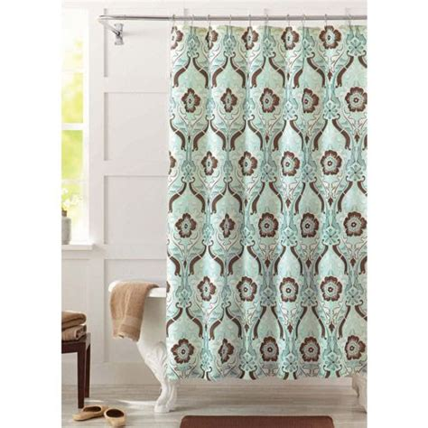 better homes and gardens new castle fabric shower curtain