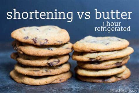using butter instead of shortening cookies made with shortening instead of butter