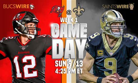 bucs  saints week  time tv schedule