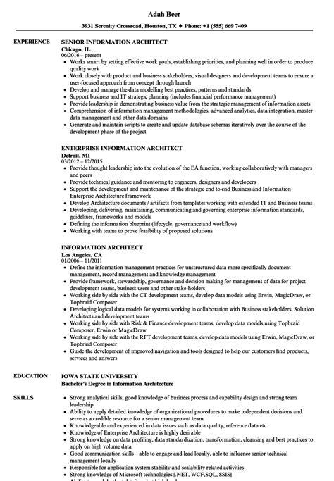 information architect resume samples velvet jobs