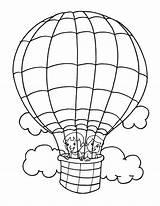 Balloon Coloring Air Printable Balloons Template Parachute Drawing Getcolorings Transportation Getdrawings Templates Popular sketch template