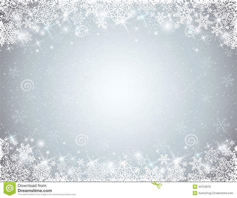 grey background  frame  snowflakes stock vector