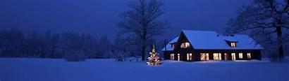 Christmas Snow Cozy Tree Outside Dual 4k