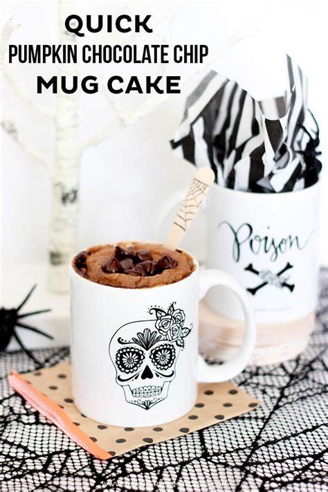how to make mug cake quick pumpkin chocolate chip mug cake