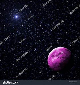 Purple Exoplanet Deep Starry Universe Stock Illustration ...
