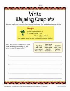 Write Rhyming Couplets | Worksheets, Activities and School