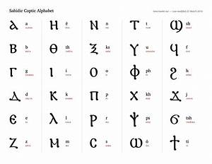 Sahidic Coptic Alphabet Bencrowder Net
