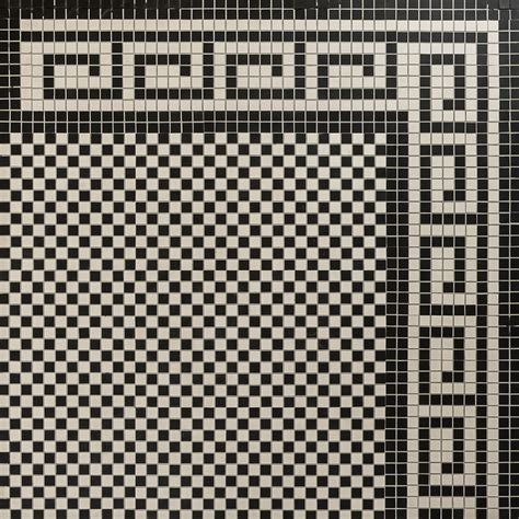 Checkerboard Mosaic Design & Greek Border ~ Eco Tile Factory