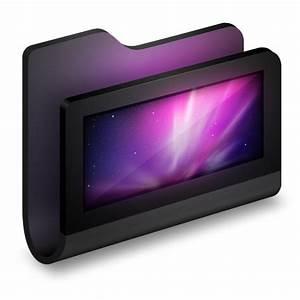 Desktop Black Folder Icon | Alumin Folders Iconset | Wil ...