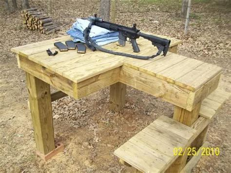 plans  build  shooting bench garage plans lowes