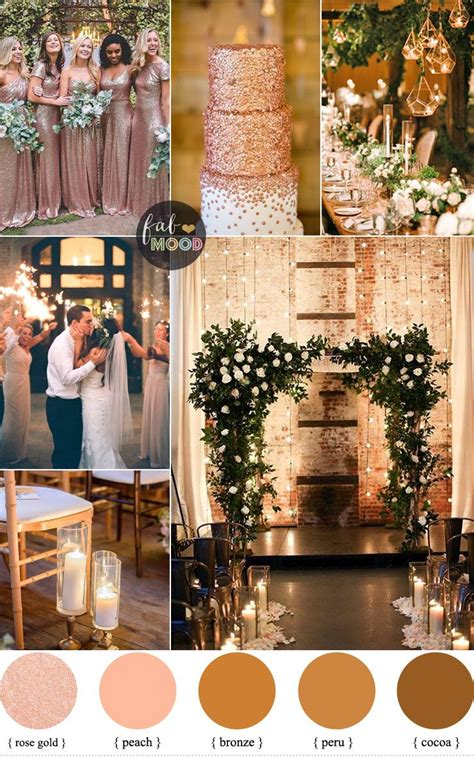 Rose gold wedding colour for industrial wedding Gold