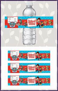 free printable paw patrol water bottle labels dark paw With free water bottle stickers