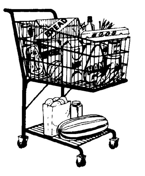 grocery clipart black and white grocery basket clipart 37