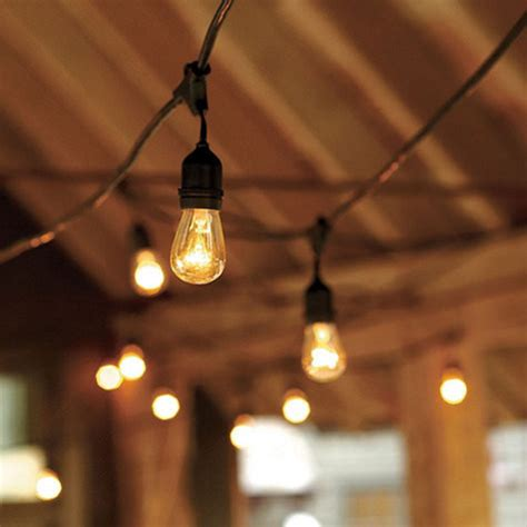 vintage string lights industrial outdoor lighting by