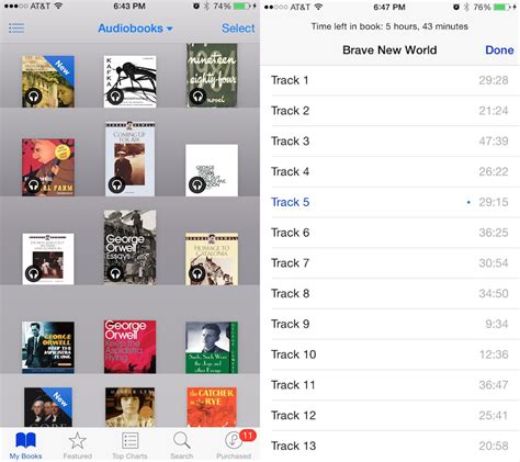 apple audiobooks into ibooks app adds chapter