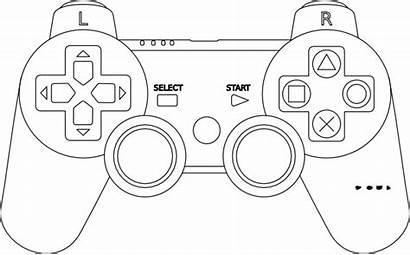 Outline Controller Console Clip Clker Clipart