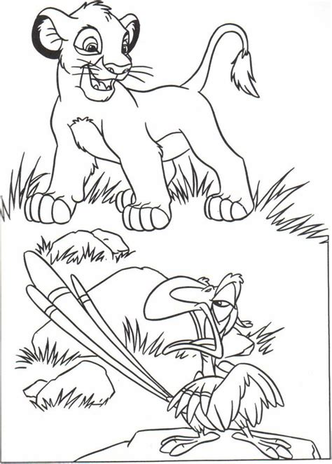printable  lion king coloring pages liste