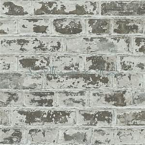 Papier Peint Style Industriel : papier peint style industriel briques couleur graphite ~ Dailycaller-alerts.com Idées de Décoration