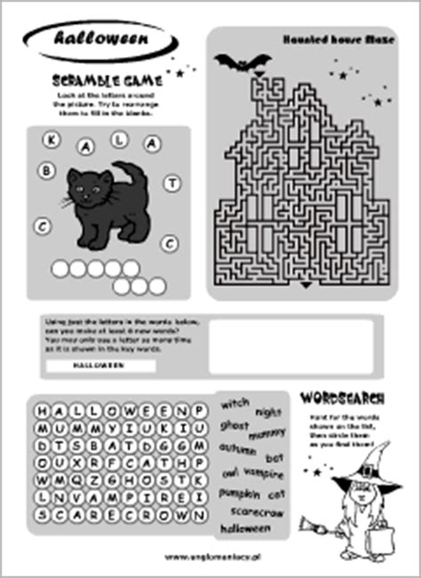halloween printables english  kids