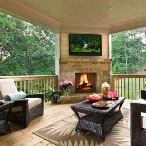 beautiful  deck covered porch  decor pinterest
