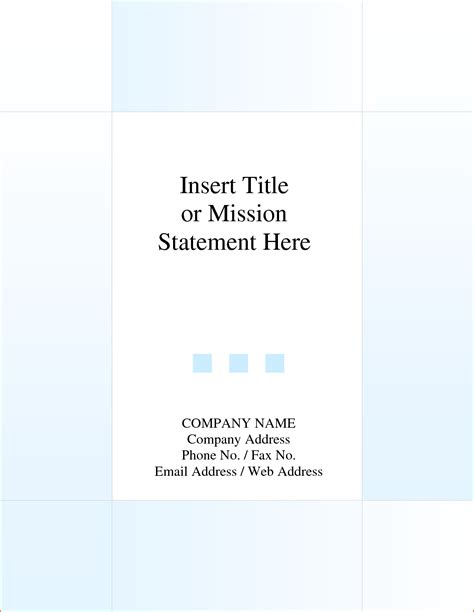 Cover Page Template by 5 Report Cover Page Template Bookletemplate Org