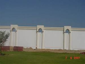 Boundary wall design and entrance