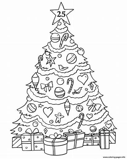 Coloring Tree Advent Drawing Calendar Gifts Printable