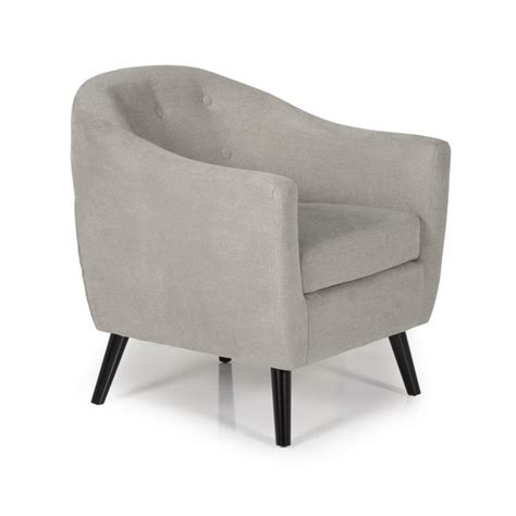 serene evie grey fabric tub chair by serene furnishings