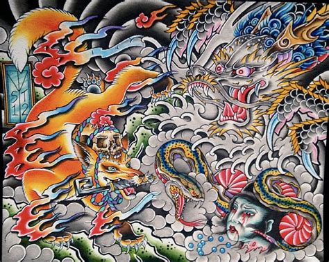 images  japanese illustration  drawing  pinterest japanese dragon tattoos