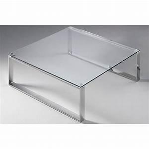 Table Basse Carrée Verre : tables basses tables et chaises table basse carr e zoe en verre transparent inside75 ~ Teatrodelosmanantiales.com Idées de Décoration