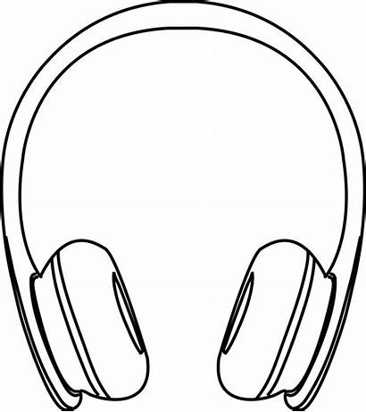 Headphones Drawing Clipart Headphone Computer Easy Clip