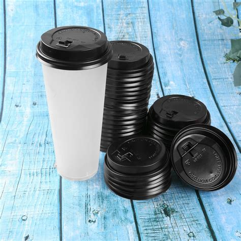 'as the global coffee consumption is. 100Pcs Disposable Coffee Cup Lids Plastic Hot Cup Covers w ...