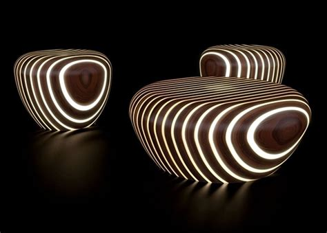 furniture light wood futuristic wooden furniture with integrated led lighting