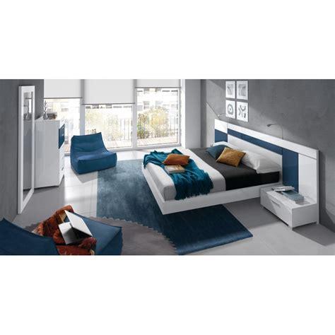 chambre bleu et chambre à coucher design blanche et bleu 6 éléments cbc