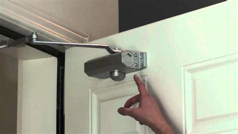 adjusting  door closer youtube