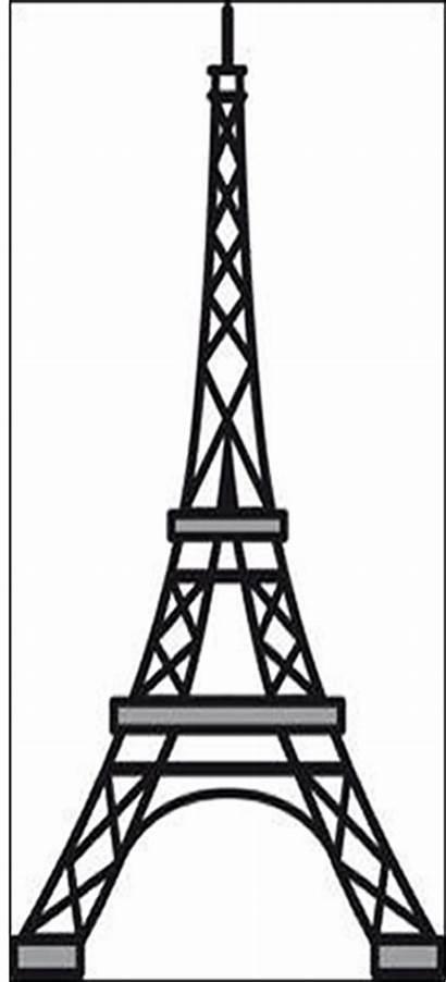 Tower Eiffel Template Stencil Die Marianne Craftables