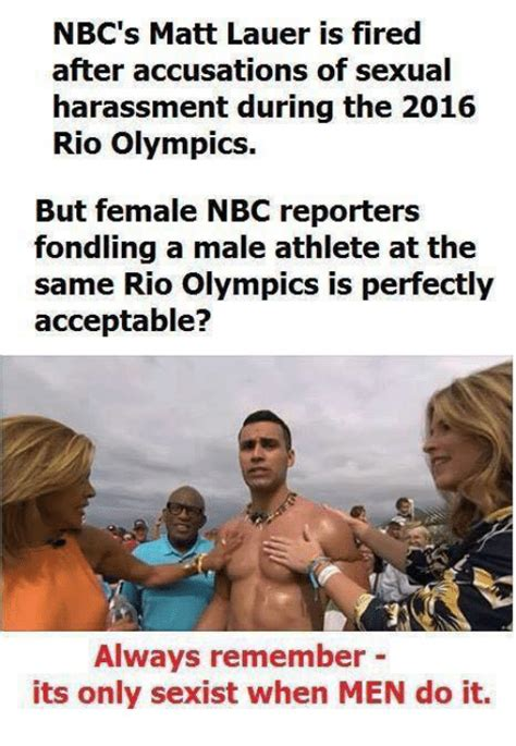 Sexually Memes - nbc s matt lauer is fired after accusations of sexual harassment during the 2016 rio olympics